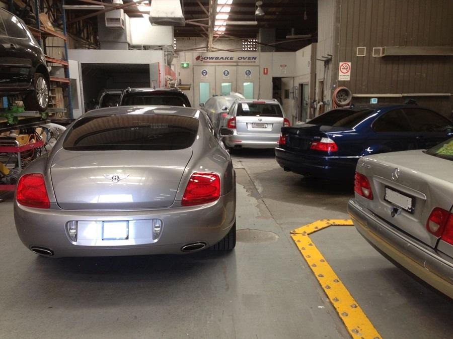 silver bentley at basha autohaus