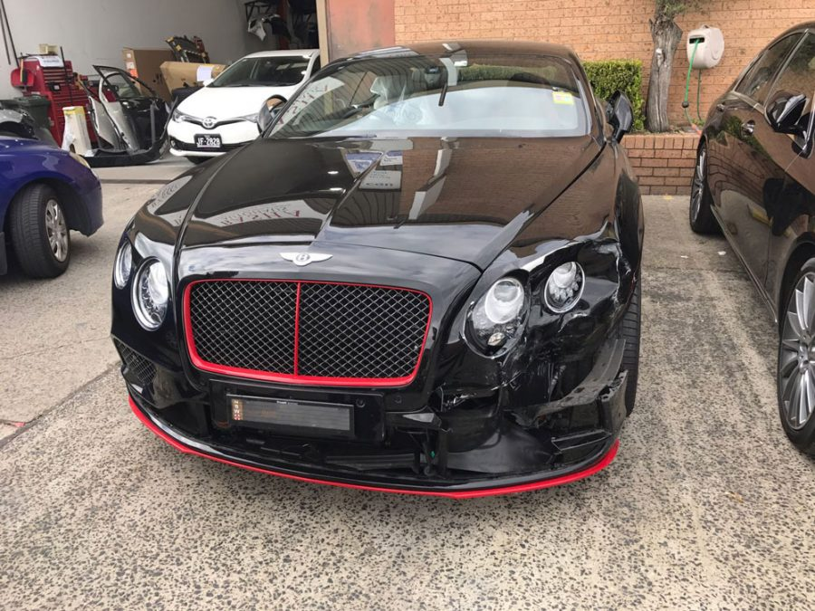 a bentley waiting for repairs