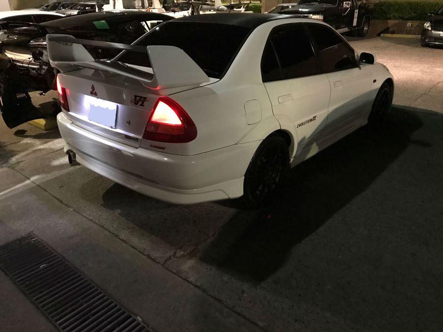 White Mitsubishi smash repairs