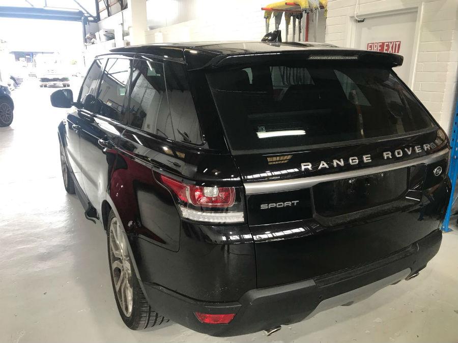 black range rover repaired by basha autohaus